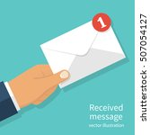 received message concept. new ... | Shutterstock .eps vector #507054127