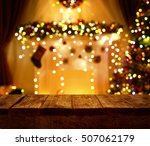 christmas kitchen wood table ... | Shutterstock . vector #507062179