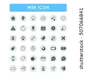 36 web bold icons | Shutterstock .eps vector #507066841