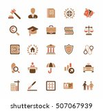 law icons  law firm  lawyer... | Shutterstock .eps vector #507067939