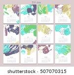 creative calendar. template...   Shutterstock .eps vector #507070315