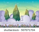 cartoon vector sky background...   Shutterstock .eps vector #507071704