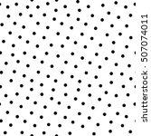 polka dot raster  seamless...   Shutterstock . vector #507074011
