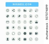36 business icons | Shutterstock .eps vector #507074899