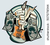 music design   rock and roll...   Shutterstock .eps vector #507078544