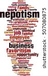 nepotism word cloud concept.... | Shutterstock .eps vector #507080875