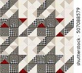 seamless hounds tooth pattern... | Shutterstock .eps vector #507088579
