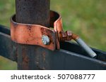 Closeup Of A Rusty Clamp And...