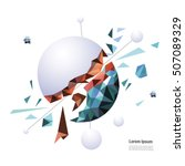 low poly sphere creative... | Shutterstock .eps vector #507089329