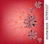 invitation or wedding card...   Shutterstock .eps vector #507091117