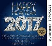 vector brilliant happy new year ... | Shutterstock .eps vector #507093211