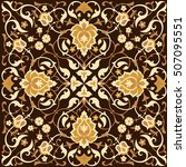 arabic style tradition floral...   Shutterstock .eps vector #507095551
