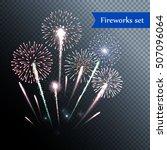set of isolated vector fireworks | Shutterstock .eps vector #507096064