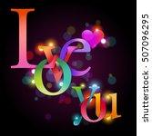 typographic valentine's day...   Shutterstock .eps vector #507096295