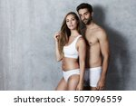 sexy couple posing in not much  ... | Shutterstock . vector #507096559