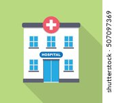 hospital building  medical icon.... | Shutterstock .eps vector #507097369