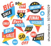 modern sale badges  web banners ... | Shutterstock .eps vector #507098329