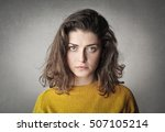 serious girl | Shutterstock . vector #507105214