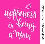 lettering photography family... | Shutterstock .eps vector #507105661