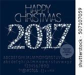 vector sparkling happy new year ... | Shutterstock .eps vector #507107059