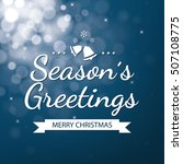 season greetings with blue... | Shutterstock .eps vector #507108775