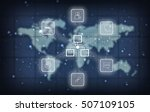 technology system on the... | Shutterstock . vector #507109105