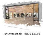 fashion store hand drawn sketch ... | Shutterstock .eps vector #507113191