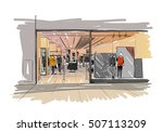 fashion store hand drawn sketch ... | Shutterstock .eps vector #507113209