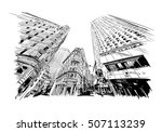 new york city hand drawn.... | Shutterstock .eps vector #507113239