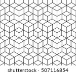 abstract geometric black and... | Shutterstock .eps vector #507116854