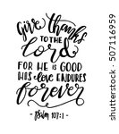 give thanks to the lord for he... | Shutterstock .eps vector #507116959