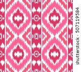 ethnic pink seamless pattern.... | Shutterstock .eps vector #507119584