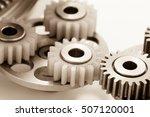 gear plastic brass stainless... | Shutterstock . vector #507120001