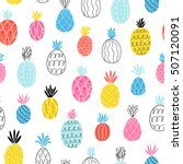 fun abstract pineapples... | Shutterstock .eps vector #507120091