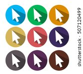 flat style vector cursors with... | Shutterstock .eps vector #507120499