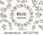 collection of beautiful flower...   Shutterstock .eps vector #507127765