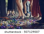 human leg dance hall party... | Shutterstock . vector #507129007