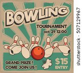 vector pop art bowling... | Shutterstock .eps vector #507129967