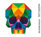 polygon triangle skull full... | Shutterstock .eps vector #507130594