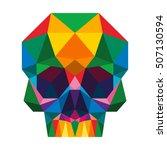 polygon triangle skull full... | Shutterstock .eps vector #507130594