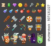 game icons medieval viking....   Shutterstock .eps vector #507131227