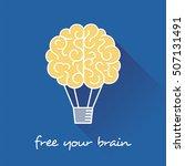 Brain As Hot Air Balloon. Free...