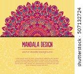 vector mandala decor for your...   Shutterstock .eps vector #507132724