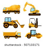 construction cars icon set....