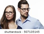 spectacles couple looking away... | Shutterstock . vector #507135145