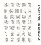 drafting paper alphabet. vector ... | Shutterstock .eps vector #507138475