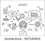 student smart  graduate ... | Shutterstock .eps vector #507140401