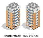 vector isometric icon or... | Shutterstock .eps vector #507141721