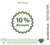 discount ten  10  percent... | Shutterstock .eps vector #507141745