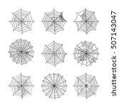 spider web set | Shutterstock .eps vector #507143047